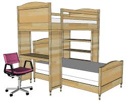 ana white build a chelsea bunk bed system desk or bookshelf supports bunk bed desk