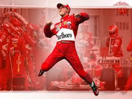 Michael Schumacher in his F1 racing gear