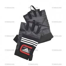 <b>Перчатки Adidas тяжелоатлетические</b> - кожаные S/M в Москве