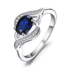 <b>JewelryPalace</b> 1.1ct <b>Created Blue Sapphire</b> Statement Ring 925 ...
