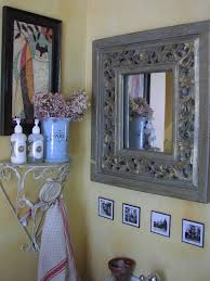 french bathroom mirror shelf decoration