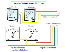 3 phase wiring diagram for house meetcolab 3 phase wiring diagram for house how to wire voltmeters for 3 phase voltage measuring