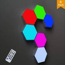 ODISTAR Remote Control <b>Hexagon</b> Wall <b>Light</b>,<b>Smart</b> Wall-Mounted ...