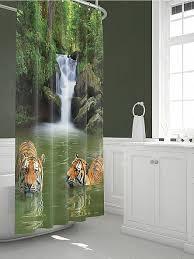 Купить <b>Шторы для ванной</b> «Тайрис» зеленый, оранжевый по ...