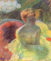 author artistic ideas in lydia leaning on her arms impressionism