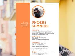 resume design tips to get you hired desygner blog phoebe summers resume design template