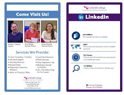 career resources college linkedin brochure