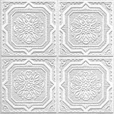 sagging tin ceiling tiles bathroom: armstrong ceilings tin look wellington  pack white patterned surface mount acoustic ceiling tiles