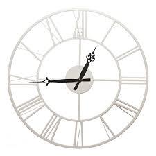 <b>Часы настенные</b> круглые Металл d40 см белые