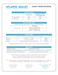 adult open division atlanta ballet centre for dance education pricing sheet