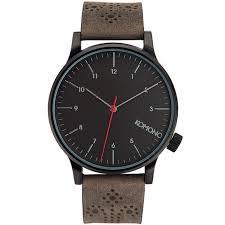 <b>KOMONO WINSTON BROGUE</b> 牛津雕花腕錶復古碳黑 /41mm | Hand ...