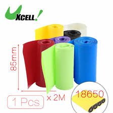 uxcell 30mm flat width 2 5m length pvc heat shrink tube green for 18650 batteries insulation casing shrink hot sale 1pcs