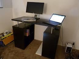 office worke computer desk with awesome oak corner laptop desk