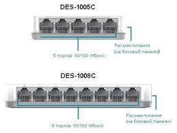 <b>DES</b>-1005C/<b>1008C</b> Неуправляемый <b>коммутатор</b> с 5/8 портами 10 ...