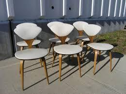 set of six vintage side chairs by norman cherner for plycraft cherner furniture