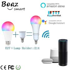 Boaz <b>7W Wifi Smart</b> Bulb Dimmable <b>Smart Light</b> E27/E14 <b>Wifi</b> Lamp ...