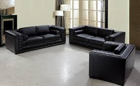 dublin luxurious black leather sofa set black leather sofa