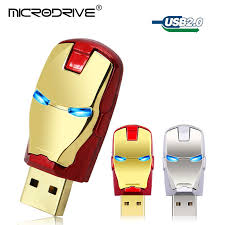 <b>Metal</b> Avengers Iron man led <b>pen drive usb flash drive</b> 64gb 16gb ...