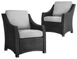 diy black wicker conversation patio furniture black outdoor furniture