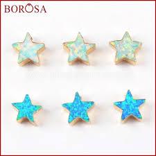 0.2~0.3g <b>BOROSA 10PCS</b> 8mm Star Gold Color Fashion Man-made ...