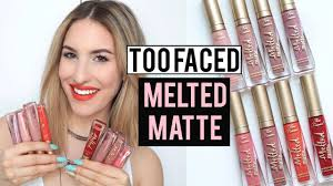 <b>TOO FACED MELTED MATTE</b> LIQUID LIPSTICK Review + Lip ...