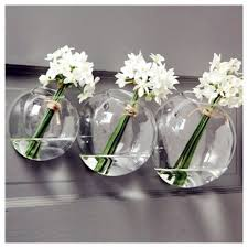 set wall glass vase set of  glass wall vase indoor wall planterswall bubble bowl for home