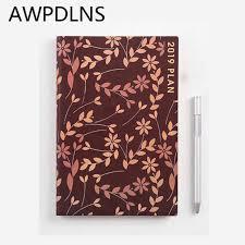 <b>PU</b> Kawaii <b>2019 Agenda Schedule</b> Diary A5 Planner Student School ...
