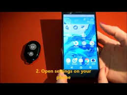 Connecting <b>bluetooth selfie stick remote</b> - YouTube