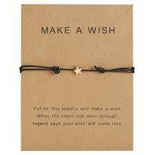 Make a wish Card Fashion Star <b>Weaving Adjustable</b> Bracelets ...