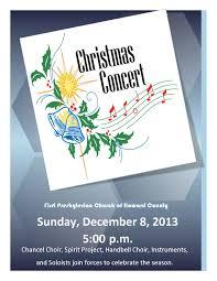 christmas concert first presbyterian church of howard county christmas concert poster 2013