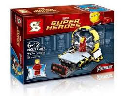sy303 bootleg lego compatible iron man mini figures bricks set bootleg iron man 2 starring