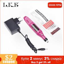 <b>LKE Electric Nail Drill</b> Machine 20000RPM USB Diamond Nail ...