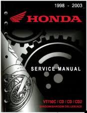 <b>Honda</b> 1999 <b>VT750CD2 Shadow</b> Manuals
