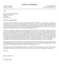 Sample Marketing Cover Letter Cover Letter Templates