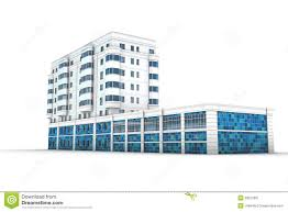 office building 3d illustration stock image abstract 3d office building