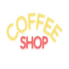 Neon <b>coffee</b> sign - <b>Transparent</b> PNG & SVG vector