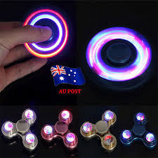 LED Flash Fidget Spinner <b>Aluminum</b> Hand Finger Focus EDC ...