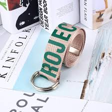 Online Shop 2019 <b>Unisex Canvas Belts</b> Letters Printed D Ring ...