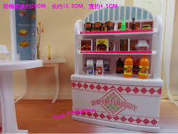 wholesale new arrival children girl gift play toy doll house super market furniture for bjd simba lica barbie doll cheap new barbie doll house barbie dollhouse furniture cheap