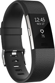 <b>Fitbit Charge 2</b> Activity Tracker + Heart Rate (Large) Black Silver ...
