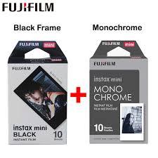 <b>Original Fujifilm Fuji</b> Instax Mini 8 Monochrome Film <b>10 Sheets</b> For 7 ...