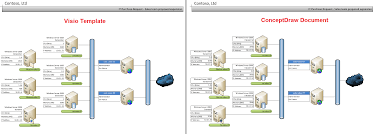 conceptdraw samples   visio replacementsample   it assets management diagram