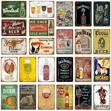 <b>Cheers</b> To <b>Beer</b> Metal Signs Ice Cold Red Wine <b>Whiskey</b> Poster ...