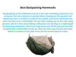 Best <b>Backpacking Hammocks</b> by bigplanetdeals1 - issuu