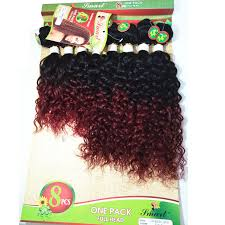 Synthetic <b>Kinky Curly</b> Hair Crochet Hair Extensions <b>8Piece</b>/lot afro ...