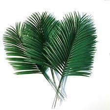 10pcs Artificial Palm Leaves Green Plants Decorative ... - Amazon.com