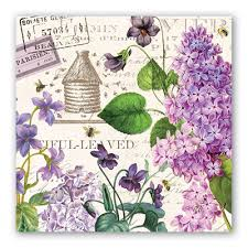 <b>Michel Design Works</b> 3-Ply Paper Luncheon Napkins - <b>Lilac</b> & Violets