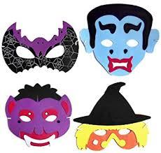 <b>Kids</b> EVA Foam <b>Halloween Masks</b> - Pack of 4: Amazon.co.uk: Toys ...
