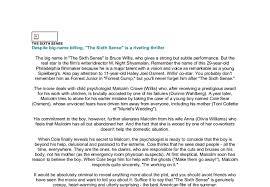the sixth sense essay   essay topicsfree the sixth sense essay example essays