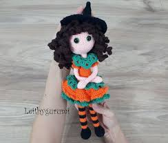 Leithygurumi - Amigurumi <b>Pumpkin Witch</b> Doll for <b>Halloween</b>